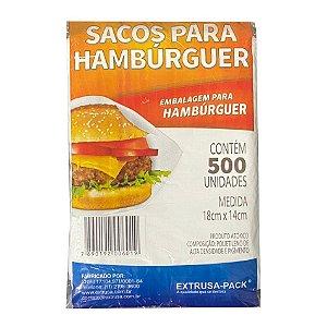 Sacos Para Hambúrguer 18cm X 14cm Com 500 Unidades