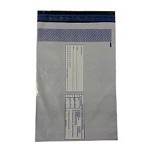 Envelope De Segurança Para E-Commerce 30cm X 40cm + 3cm De Aba Com 100 Unidades
