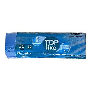 Saco de Lixo Extra 30 Litros Azul Rolo Com 30 Unidades