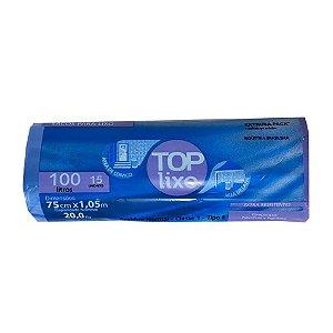 Saco de Lixo Extra 100 Litros Azul Rolo Com 15 Unidades
