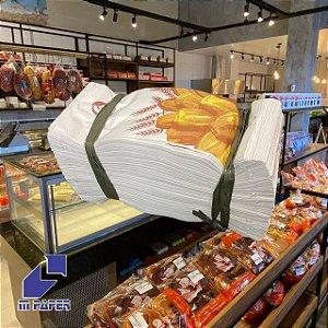 Saco Papel Kraft Branco 30g - 1 kg para 2 Pães C/ 500 Unidades