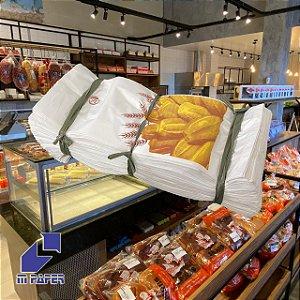 Saco Papel Kraft Branco 30g - 10 kg para 20 Pães C/ 500 Unidades
