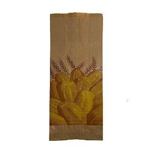 Saco Papel Kraft Natural 35g - 5 kg para 10 Pães C/ 500 Unidades