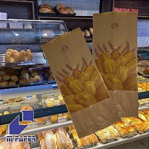 Saco Papel Kraft Natural 35g - 7 1/2 kg para 15 Pães C/ 500 Unidades