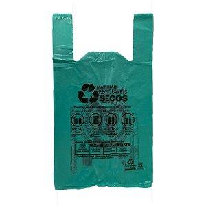 Sacola Plastica 48X55 PMSP Verde Padrão Tipo A  - C/ 500 Unidades