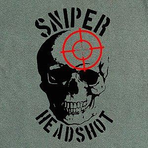 Camiseta Sniper headshot