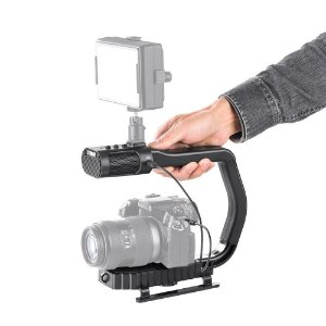 Suporte De Mão Estabilizador Vídeo com microfone embutido SevenOak MicRig Estéreo