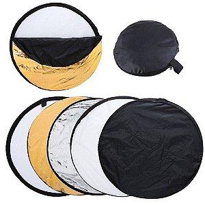 Disco Rebatedor E Difusor Circular 5 Em 1 De 110 Cm + Bolsa