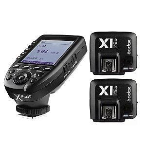 Rádio Flash Godox X Pro N Para Nikon TTL/Multi - Transmissor com 2 Receptores X1R-N