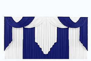 Cortina Elegance para Igreja em Tecido Malha Gel - Varão Duplo