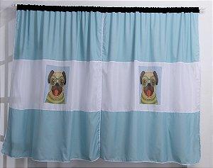 Cortina Pet Pug para Quarto 2,00x1,70m