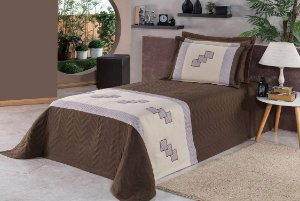 Cobre Leito e Porta Travesseiro Solteiro Egito