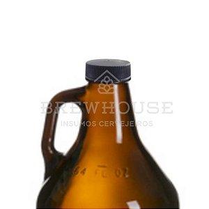 TAMPA PRETA PARA GROWLER 1,89 L