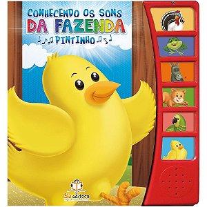 Livro Infantil Conhecendo os Sons da Fazenda Pintinho
