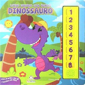 Livro Infantil Sonoro com Rimas Dinossauro