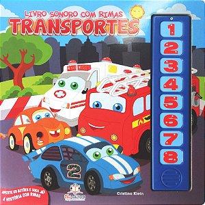 Livro Infantil Sonoro com Rimas Transportes