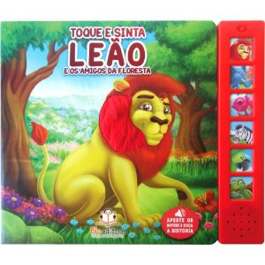 Livro Sonoro Toque e Sinta Leão e os Amigos da Floresta