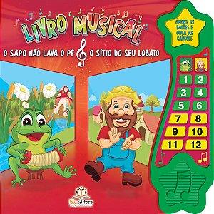 Livro Musical O Sapo Não Lava o Pé e O Sítio do Seu Lobato
