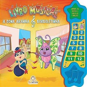 Livro Musical A Dona Aranha e Borboletinha