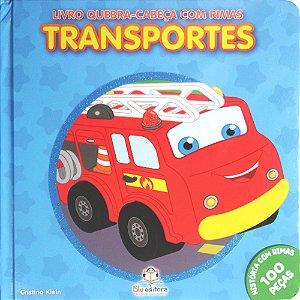 Livro Quebra-cabeça com Rimas Transportes