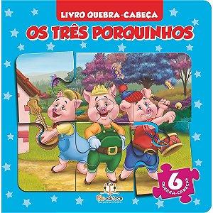 Livro Quebra-cabeça Pequeno Os Três Porquinhos