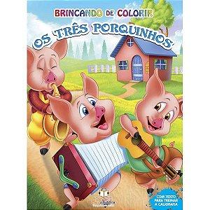 Livro Brincando de Colorir Os Três Porquinhos