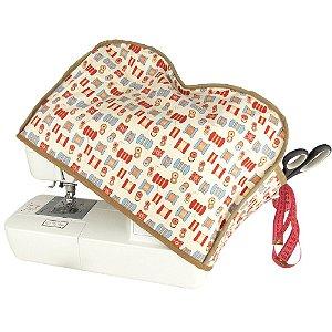 Capa para Máquina de Costura de Patchwork Modelo Carretel