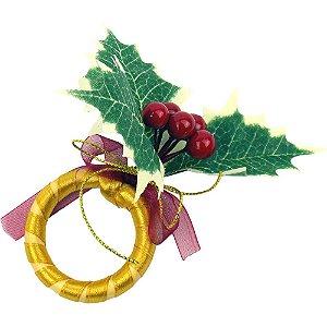 Porta Guardanapo de Argola Modelo de Natal Jogo com 6 Peças
