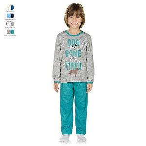 Pijama Infantil Longo de Inverno em Meia Malha Dog Menino