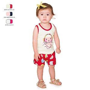 Conjunto de Bebê Curto Verão com Regata e Shortinho