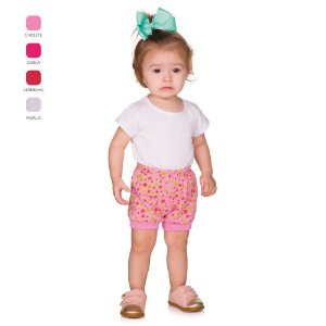 Short de Bebê Verão com Punho e Estampa