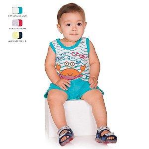 Conjunto de Bebê Menino Verão Regata com Short
