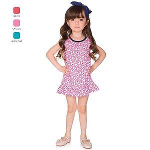 Vestido Infantil Menina Regata Verão