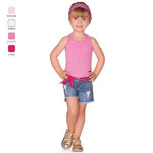 Regata Infantil Menina com Aplique Verão