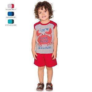 Conjunto Infantil Menino Camiseta Machão e Short Verão