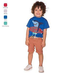 Camiseta Infantil Menino Meia Manga Verão
