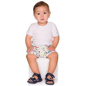 Short de Bebê Menino Verão Tactel Sublimático