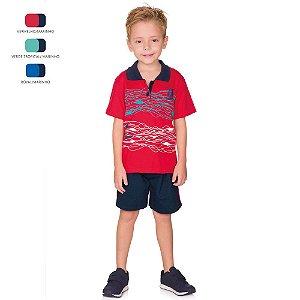 Conjunto Menino Camiseta Polo e Short Verão