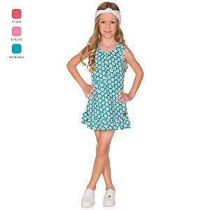 Vestido Menina Curto Estampado Verão