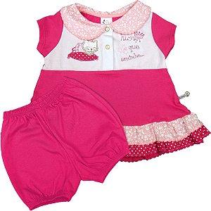 Conjunto de Bebê Menina Batinha com Gola e Short