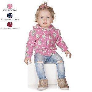 Jaqueta de Bebê Menina de Inverno com Capuz de Microsoft