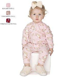 Macacão de Bebê Menina Longo de Inverno de Microsoft com Zíper