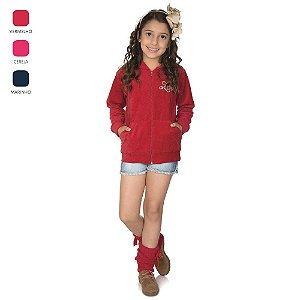 Jaqueta Infantil de Menina de Plush