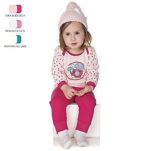 Pijama de Bebê Menina Longo de Inverno Americano