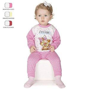 Pijama de Bebê Menina Longo de Inverno