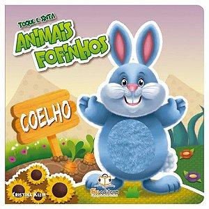 Livro Infantil Toque e Sinta Animais Fofinhos Coelho
