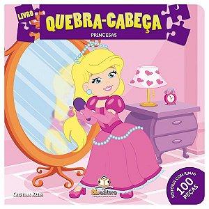 Livro Quebra-cabeça Médio: Princesas
