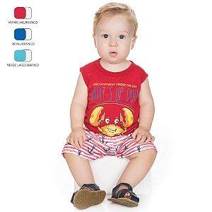 Conjunto para Bebê Menino Machão e Tactel (Verão)