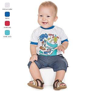 Camiseta Meia Manga para Bebê Menino (Verão)