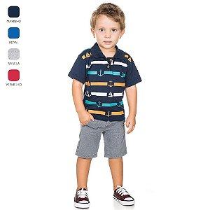 Camiseta Gola Polo Infantil para Menino (Verão)
